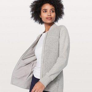 Lululemon Grey Wool Blend Zip Up Jacket